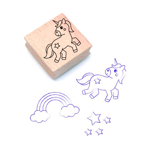 stempel unicorn illustratie - illustrator: steffanie le sage