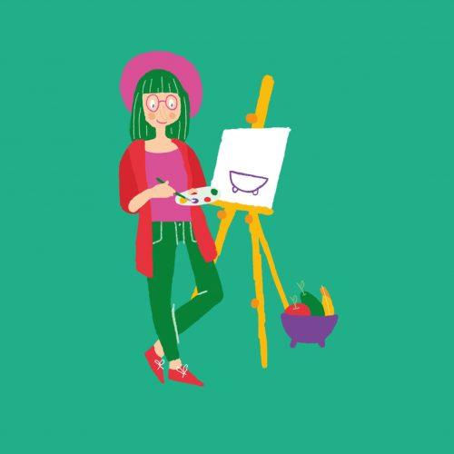 rotterdam tekenfestival poster schilderen illustratie - illustrator: steffanie le sage