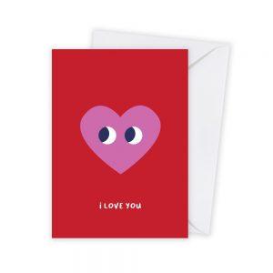 valentijn hart kaart illustratie - illustrator: steffanie le sage
