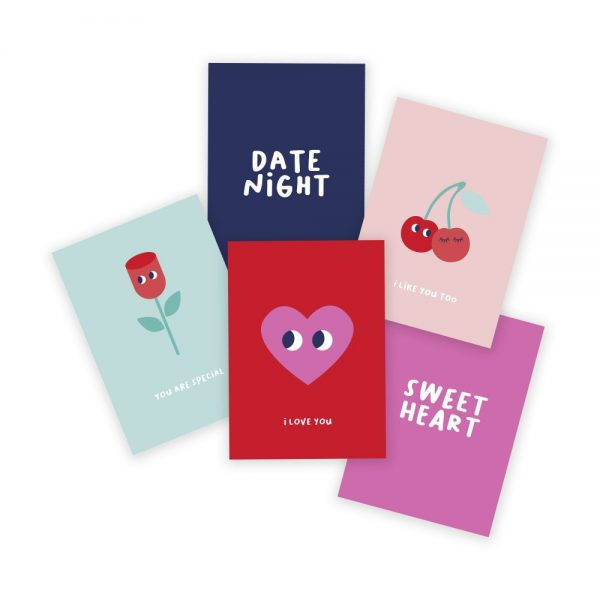 valentijn kaarten set illustratie - illustrator: steffanie le sage