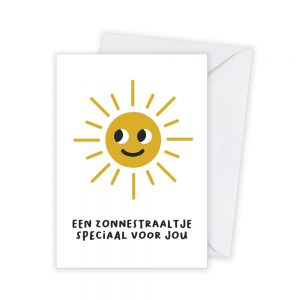 zonnestraaltje covid kaart illustratie - illustrator: steffanie le sage