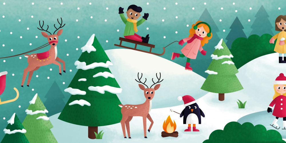 kerstmis illustratie - illustrator: steffanie le sage