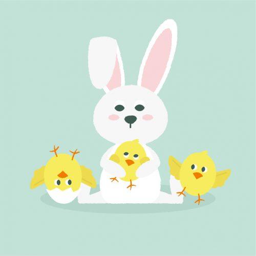 konijn pasen illustratie - illustrator: steffanie le sage