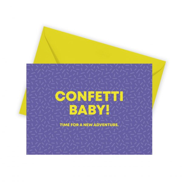 confetti kaart illustratie - illustrator: steffanie le sage
